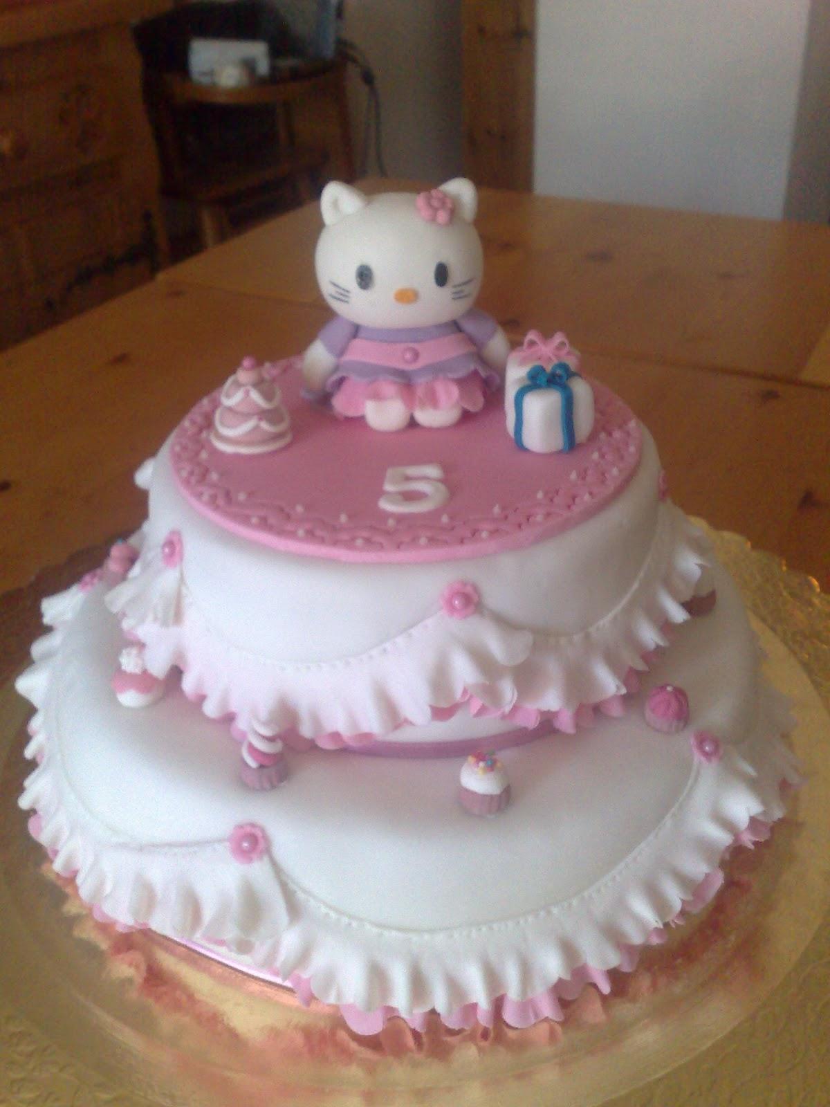 Amato Delizie per l'anima: Torta di compleanno Hello Kitty LQ76