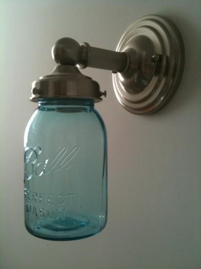 Tasty tuesday mason jar ideas a glimpse inside - Mason jar bathroom light fixture ...