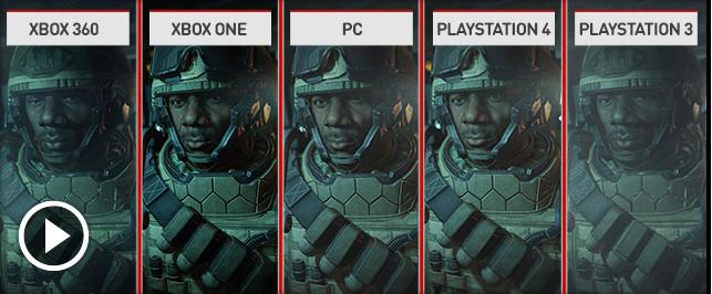 فيديو مقارنة جرافيكس Call of Duty: Advanced Warfare على جيع الأجهزة