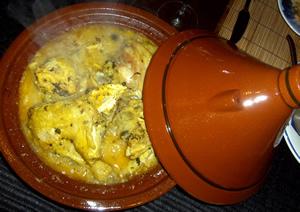 chicken stewed with argan oil