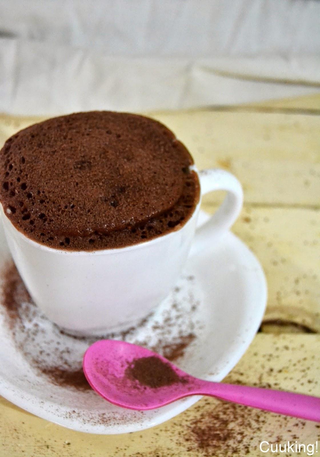 Mug cake de ColaCao (bizcocho en taza al microondas)
