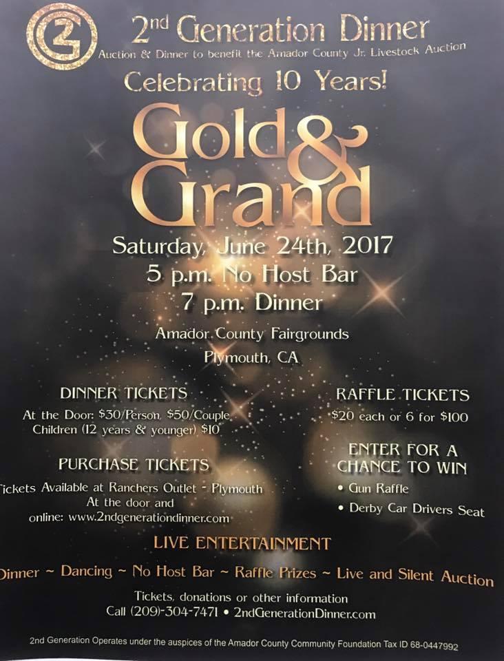 Gold & Grand 2nd Generation Dinner - Sat June 24