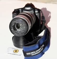 cámara de fotos rota