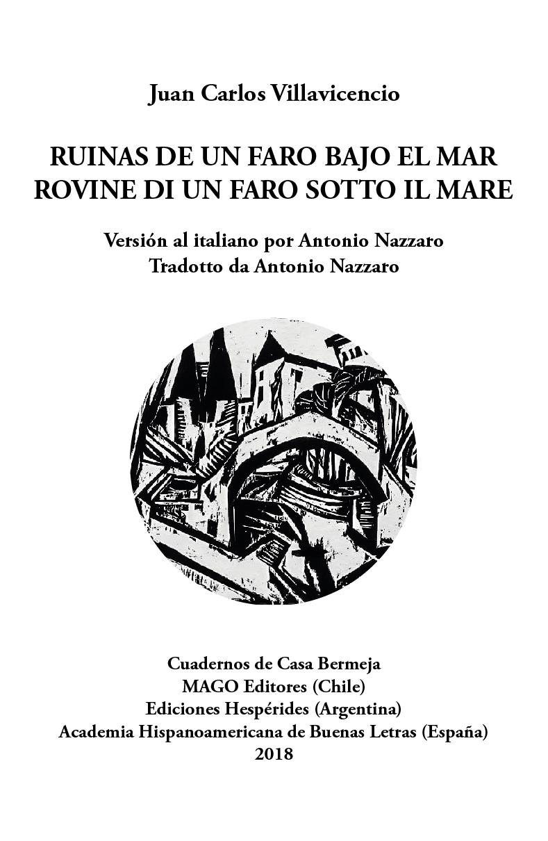 Ruinas de un faro bajo el mar, de Juan Carlos Villavicencio. Traducción de Antonio Nazzaro
