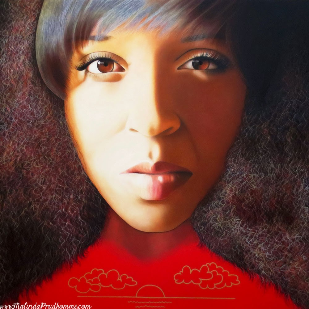coloured woman, black woman art, beauty art, true beauty, malinda prudhomme, portrait art, toronto portrait artist, realism, portrait painting, canadian artist, realistic portraiture