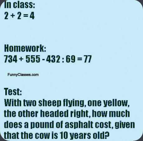 The universal maths problem !! - FunnyClasses | News, Pictures ...