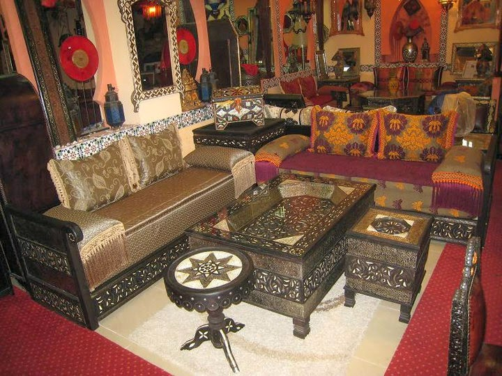 Salon marocaine moderne Décoration de salon marocain moderne  les