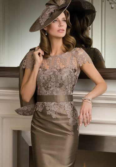 mother of the bride dress with matching hat