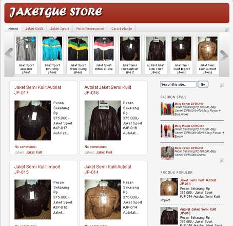 jaketgue blogger store template