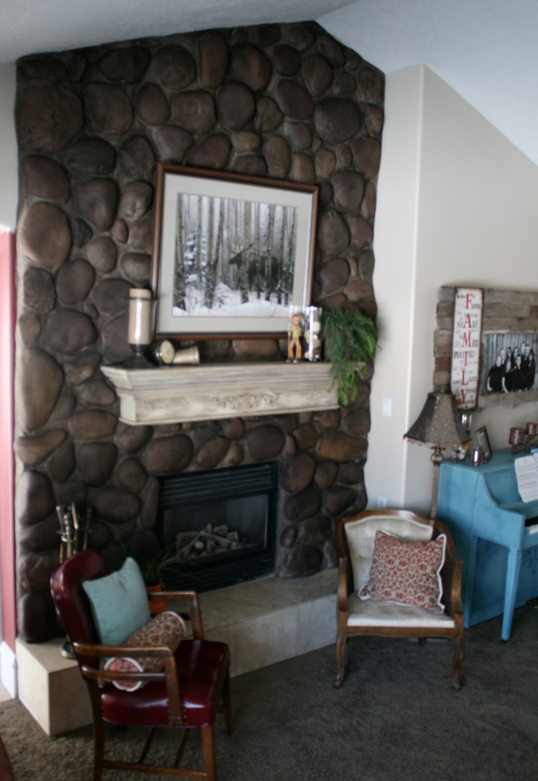 River rock fireplace pictures - River Rock Fireplace Pictures 59