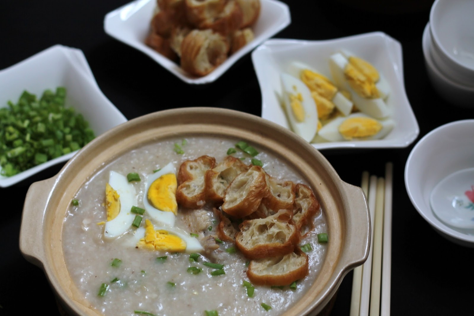 jook rice porridge shredded ginger chicken congee chicken congee rice ...