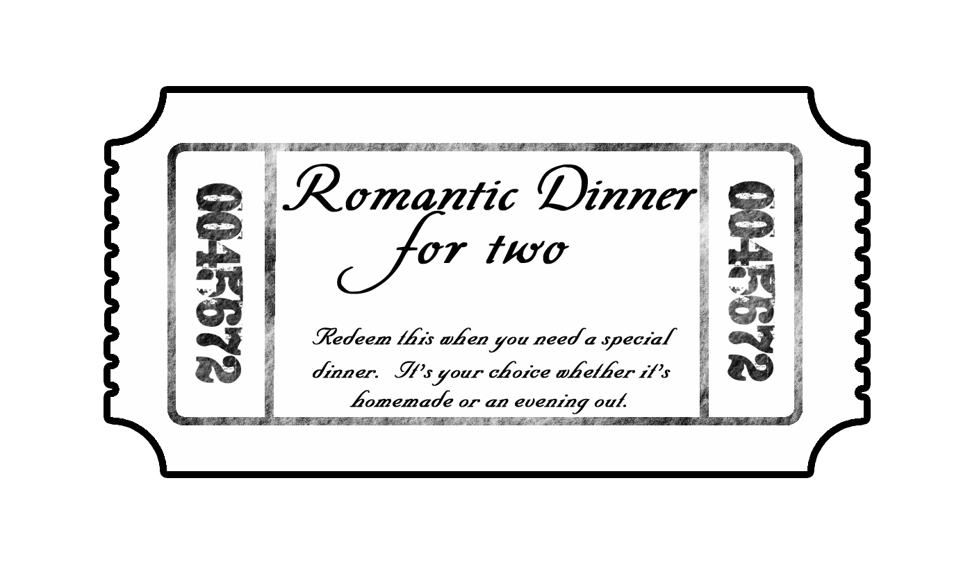 Dinner Tickets Template By Thoughtful Thursday Tickets While He Was Napping  ...