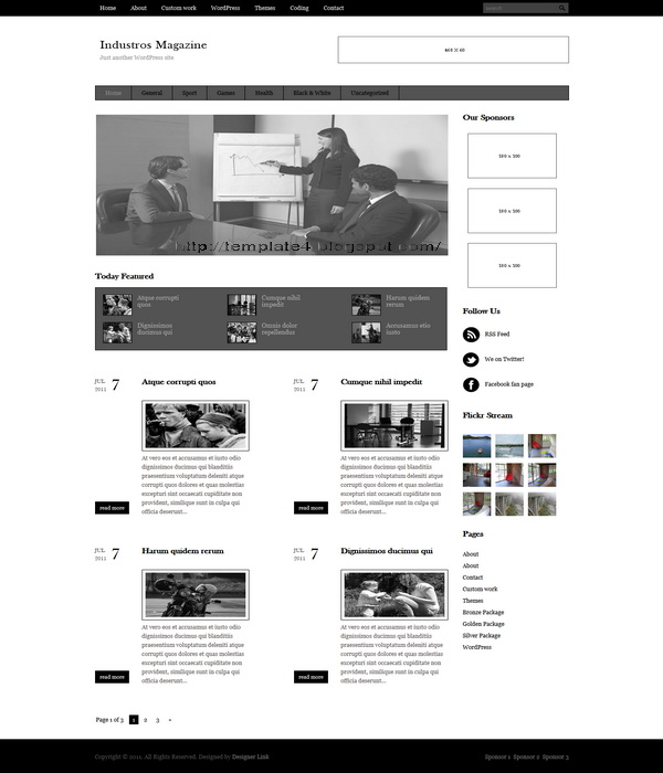 Industros Magazine WordPress Theme