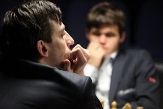 Alexander Grischuk battu par Magnus Carlsen