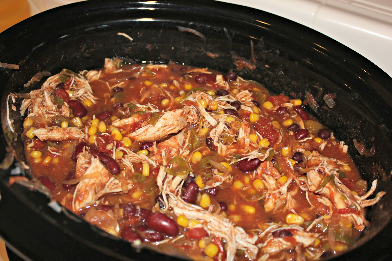 Dreaming of Dimples: Crock-Pot Link Up: Chicken Taco Chili