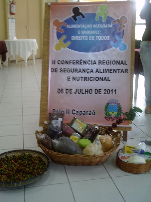 II Conf. Regional de SAN - Alegre 06/07/2011