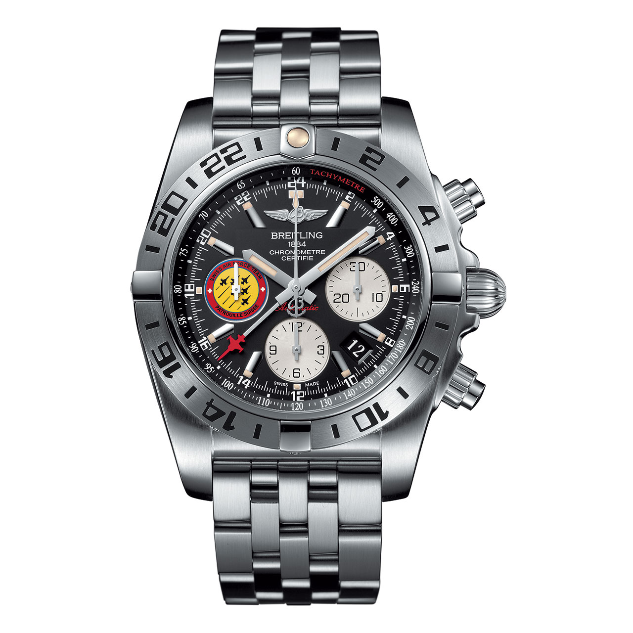 "Breitling Chronomat 44 GMT ""Patrouille Suisse 50th Anniversary"""