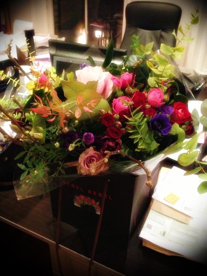 Signature Valentines bouquet @rebelrebel.co.uk