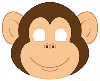 Printable Monkey Mask