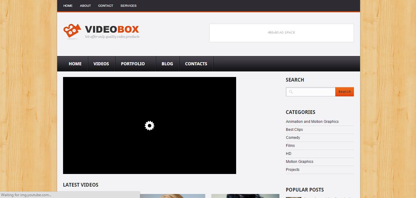 Download Free Videobox Blogger Template Premium Free Wordpress