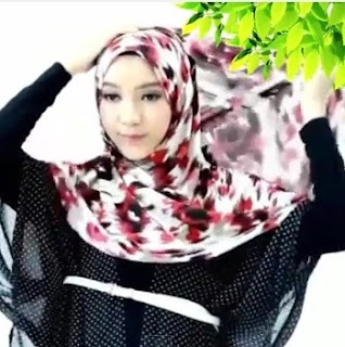 tutorial hijab pashmina simple lebaran 2