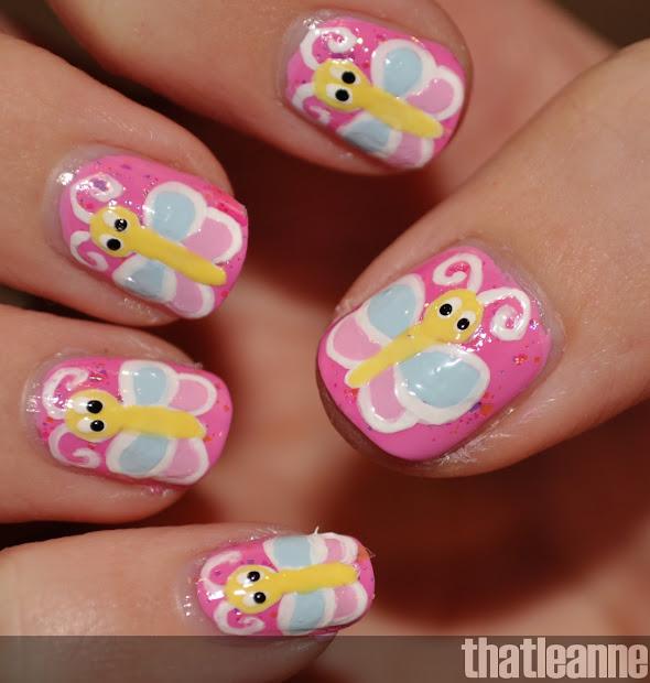 thatleanne butterfly nail art