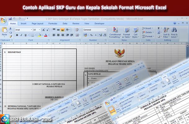Contoh Aplikasi SKP Guru dan Kepala Sekolah Format Microsoft Excel