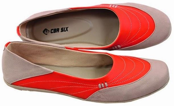 Sepatu Flat Abu Orange CBR Six