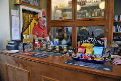 Gregg behind the bar at the Snug