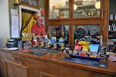 Gregg behind the bar at the Snug