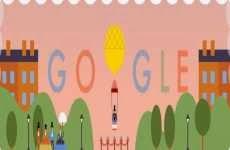André Jacques Garnerin: doodle animado interactivo de Google, 22 de octubre