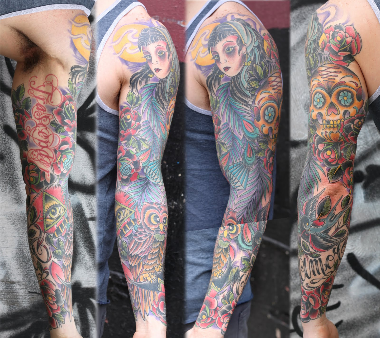 Moritz's blog: Skull chicano arm cover up by