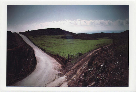 dirty photos - time - cretan landscape photo of two roads separating