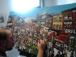 En train de peindre...