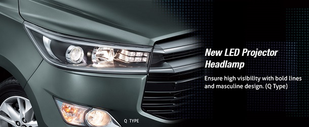 New LED Procejtor Headlamp Toyota All New Kijang Innova