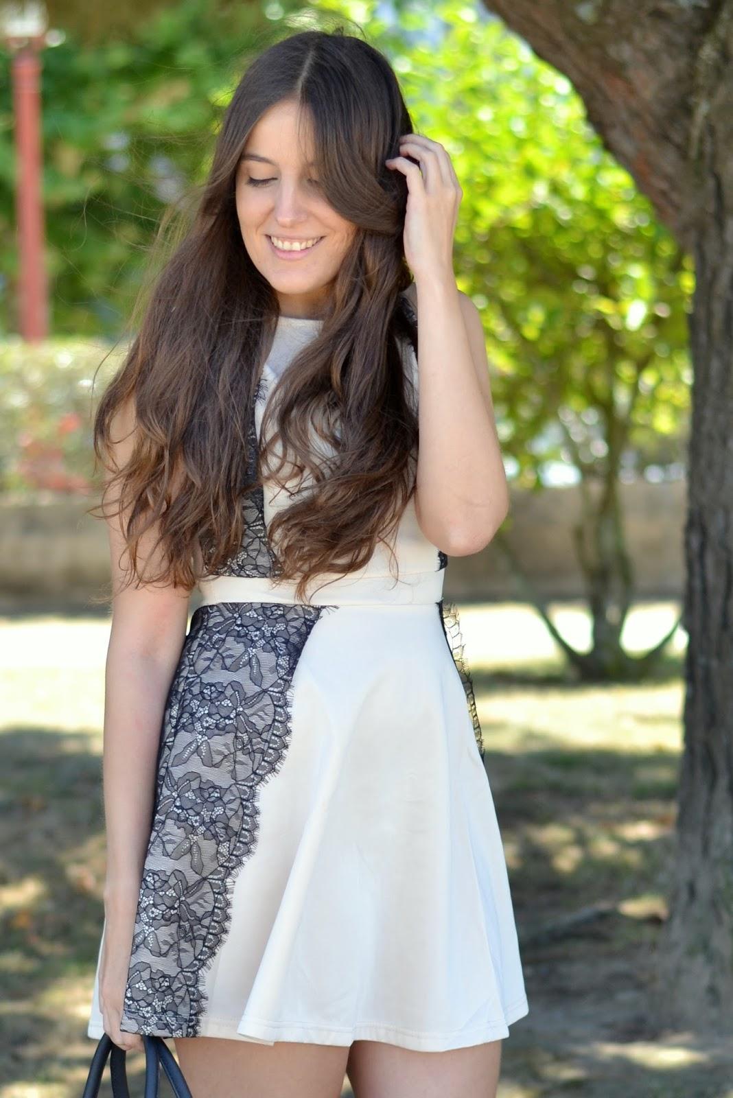 lace details dress