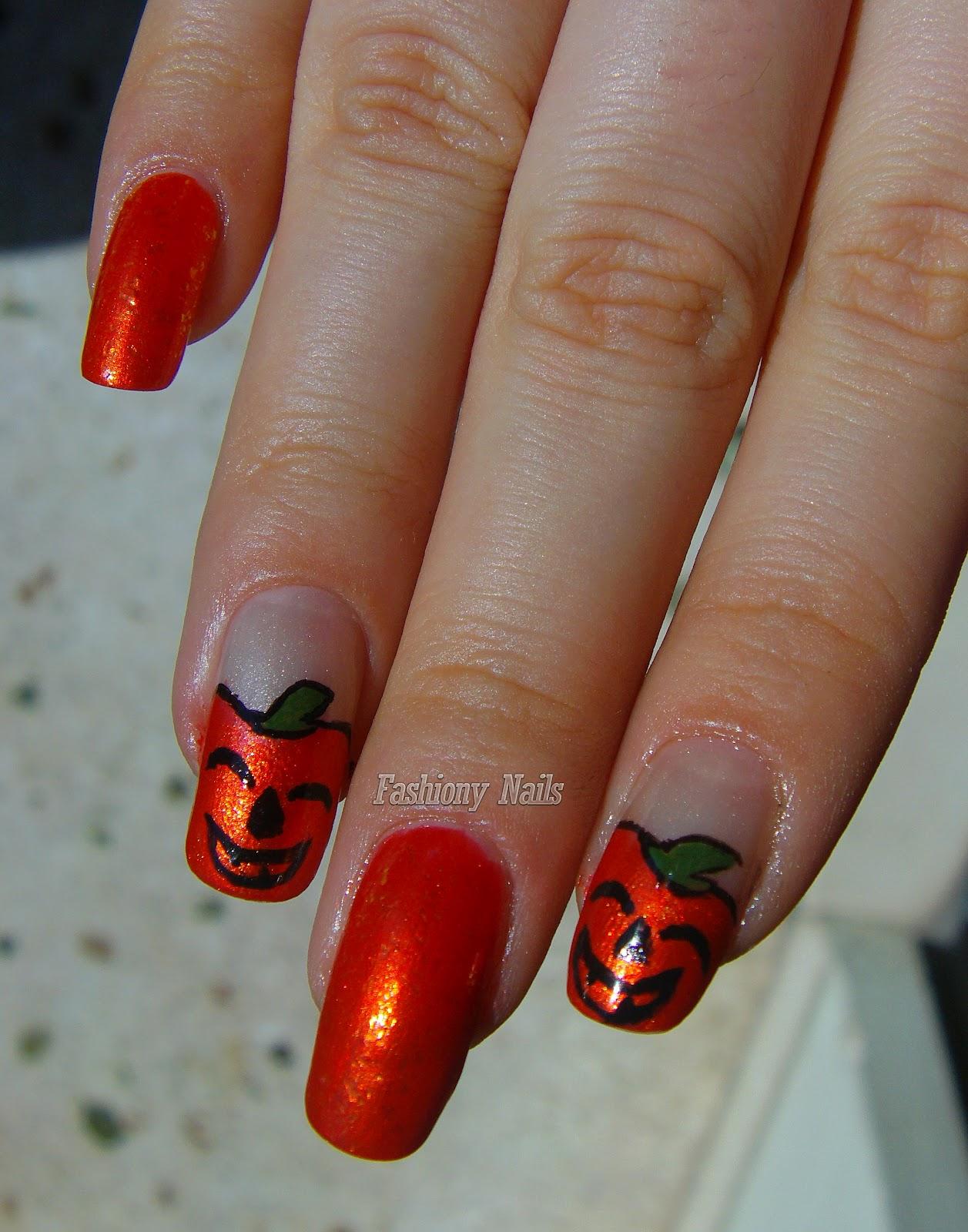Halloween Nail Art Challenge: Pumpkin | Fashiony Nails | Beauty Blog