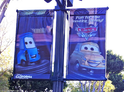 Luigi's Flying Tires banner poster Cars land Downtown DIsney