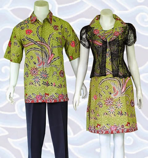 baju batik couple modern