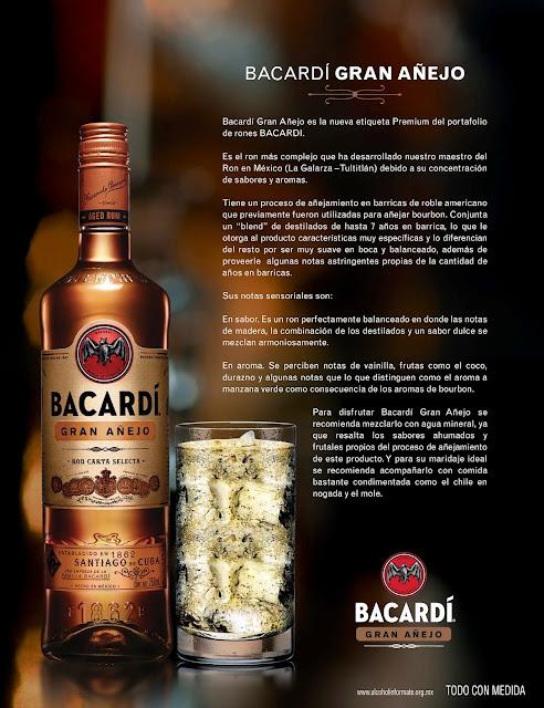 Llega Bacardí Gran Añejo a México