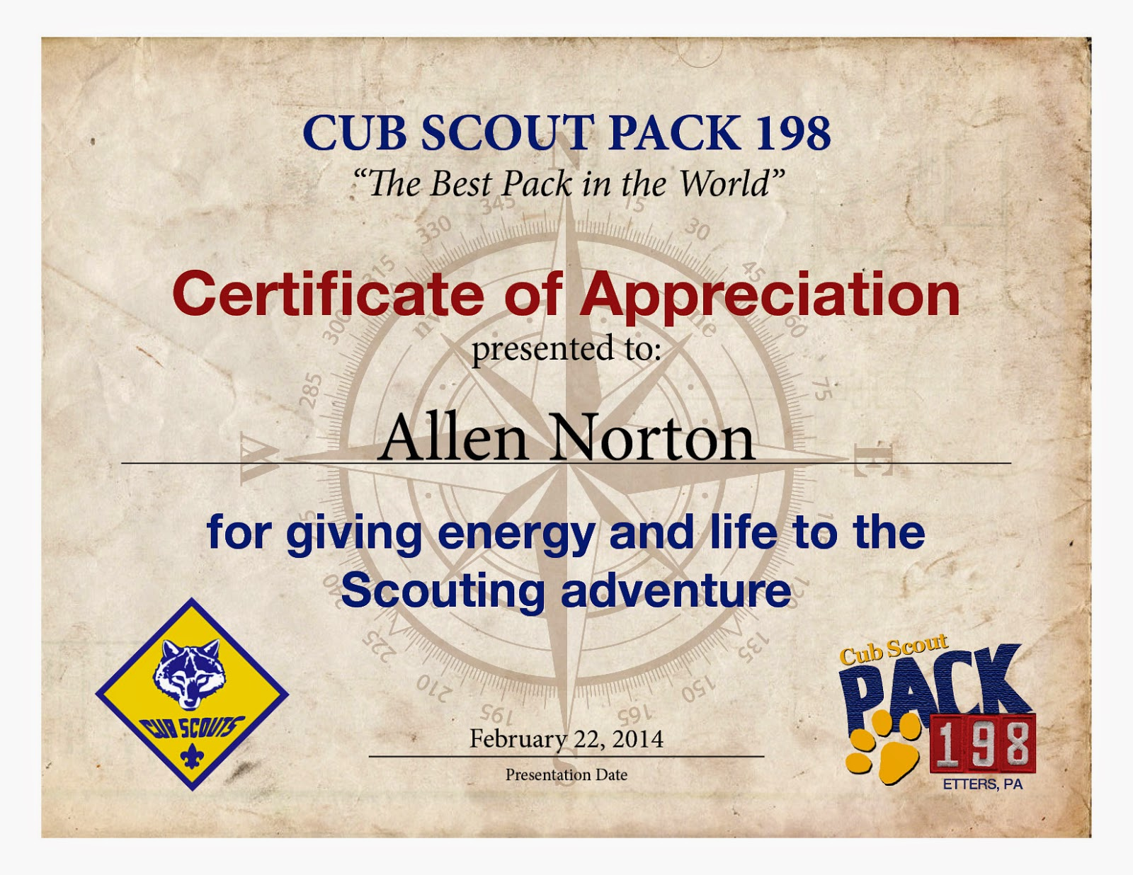 cub scout certificate templates car interior design With cub scout certificate templates