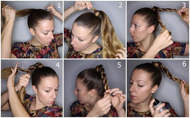 Tutorial Menata Rambut Panjang Dengan Model Rope Braid Ponytail