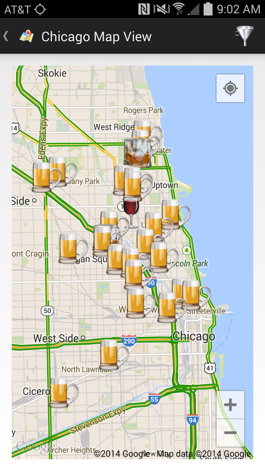WineCompass Ballparks  Brews Wrigley Field Chicago - Chicago map showing wrigley field