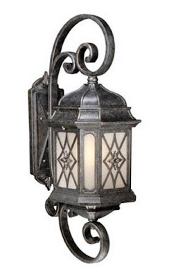 Green Light Fixtures, Energy Efficient Outdoor Lighting, Pewter Outdoor Entrance Lights,  Pewter Carriage Entry Lights