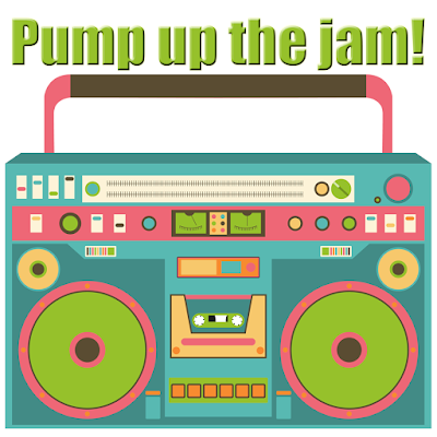 pump up the jam fusography design for Sassy Glass Studio, fall 2015, fused glass art, one-of-a-kind fused glass art, fused glass, boombox, colorful boombox, music, graphic