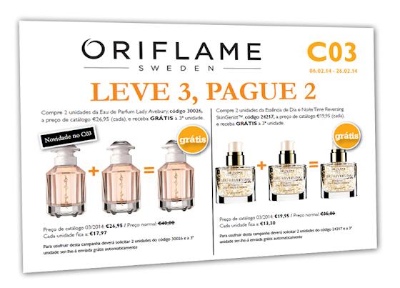 Flyer Oriflame - Catálogo 03 de 2014