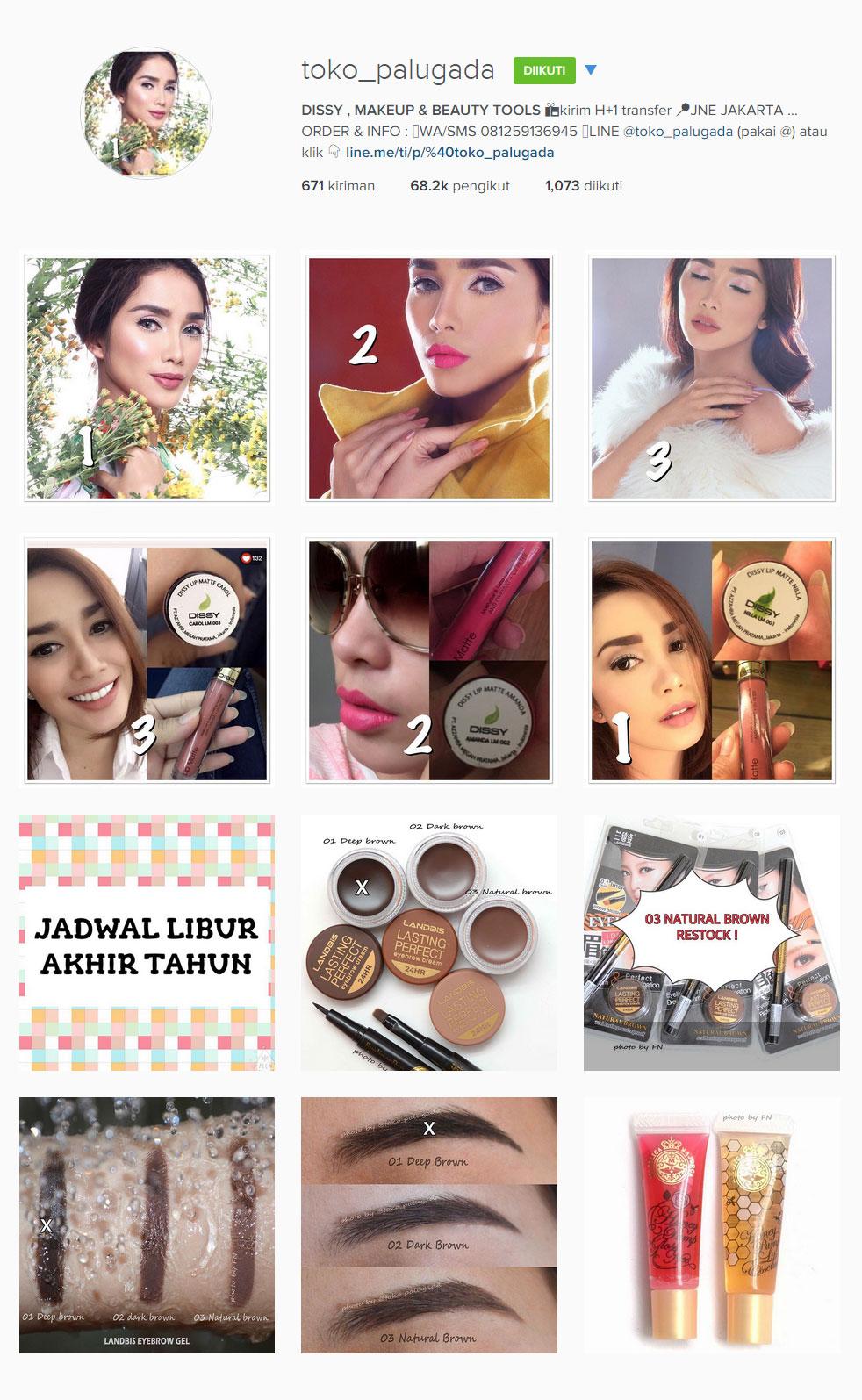 toko palugada makeup onlineshop