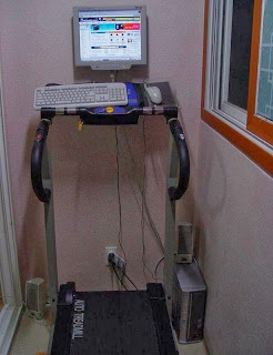 funny picture: computer and treadmill