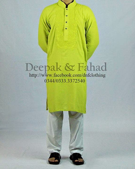 Stylish Men Kurta Collection 2014 by Deepak and Fahad