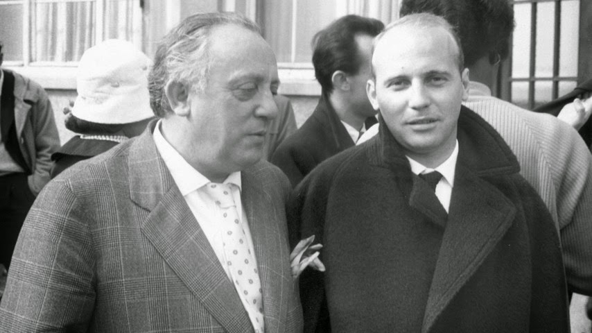 Karl Amadeus Hartmann and Hans Werner Henze in 1957